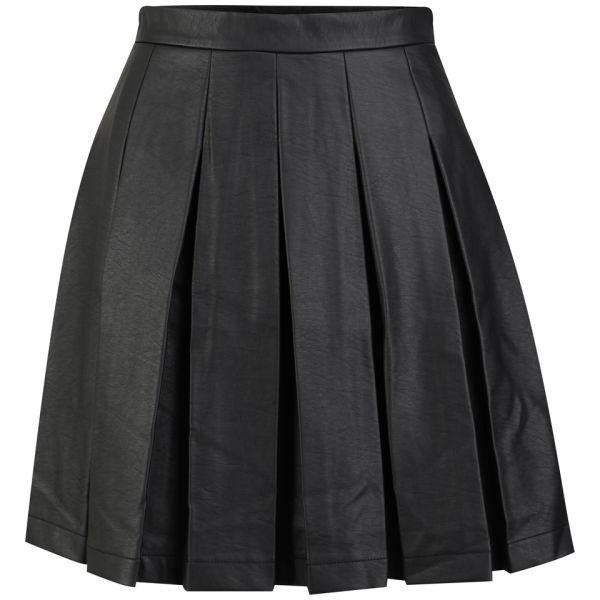 French Connection Women's Roller Girl Pleated Skirt - Black