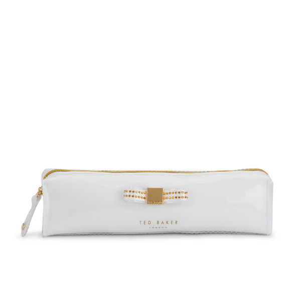 Ted Baker Crysa Jewel Bow Pencil Case - White