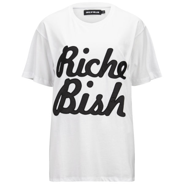 House of Holland Women's Riche Bish Oversized T-Shirt - White