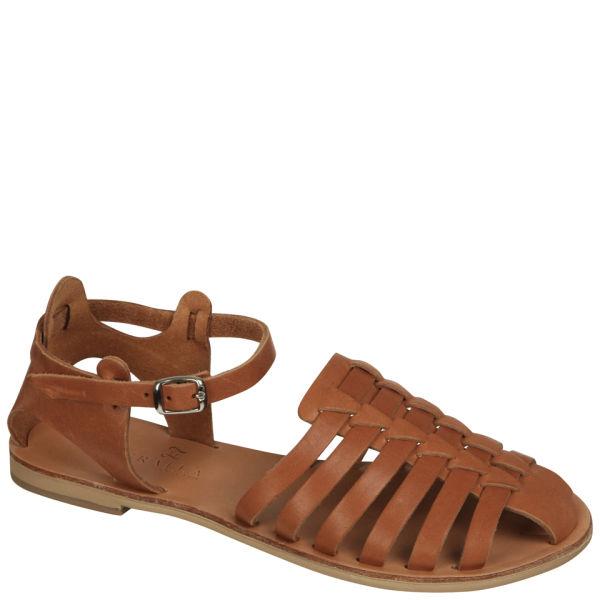 Grafea Women's Sandy Leather Sandals - Tan