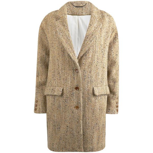 Sessun Women's Tweedy Coat - Ambre