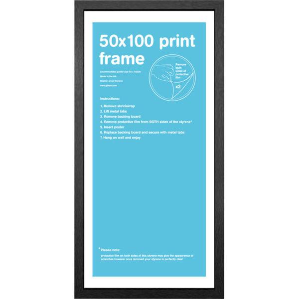 Black Frame 50 x 100cm