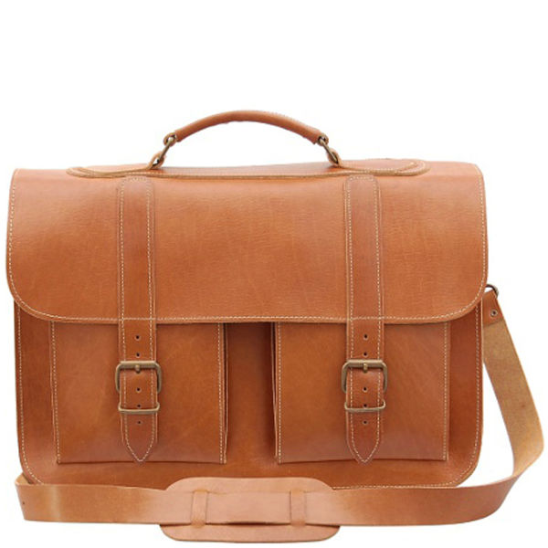 Grafea Timeless Classic Leather Briefcase  - Caramel