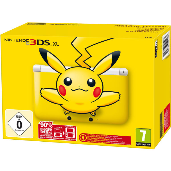 nintendo 3ds xl console limited edition yellow pikachu. Black Bedroom Furniture Sets. Home Design Ideas