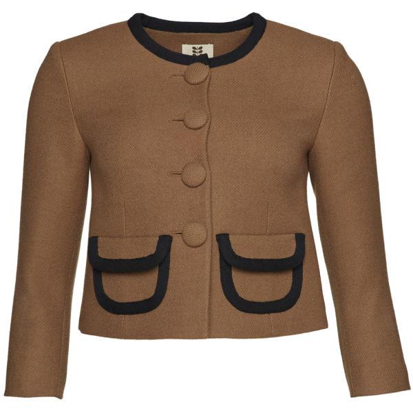 Orla Kiely Women's Wool Twill Jacket - Camel