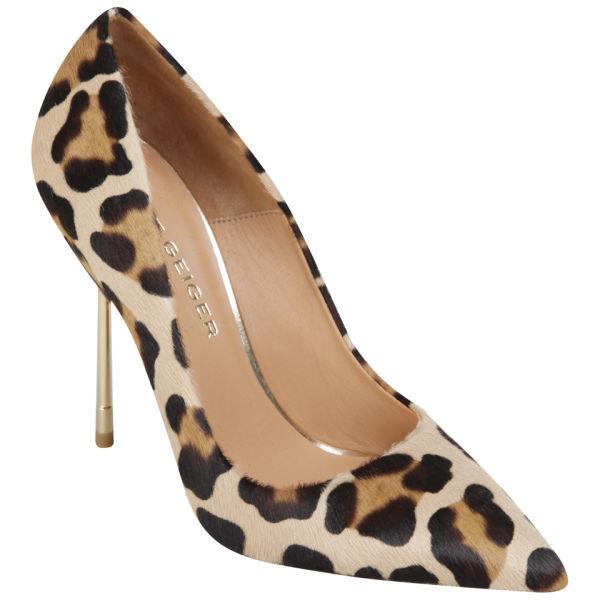 At Selfridges Dune Marabella Patent Leopard Print Heeled Sandals