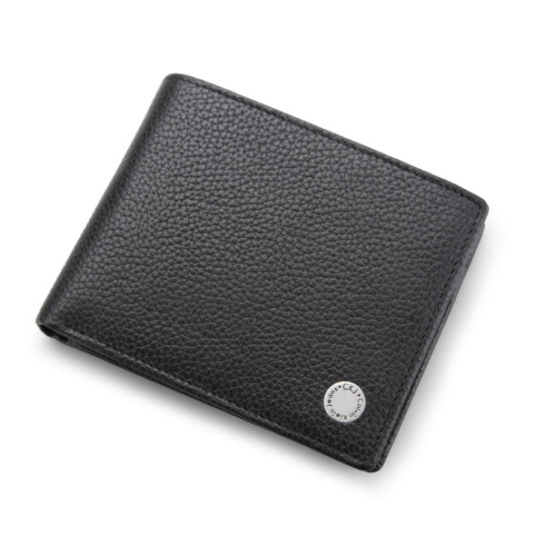 Calvin Klein Jeans Seal 5cc Coin Leather Wallet - Black Mens ... 7bf4dfbcf8f