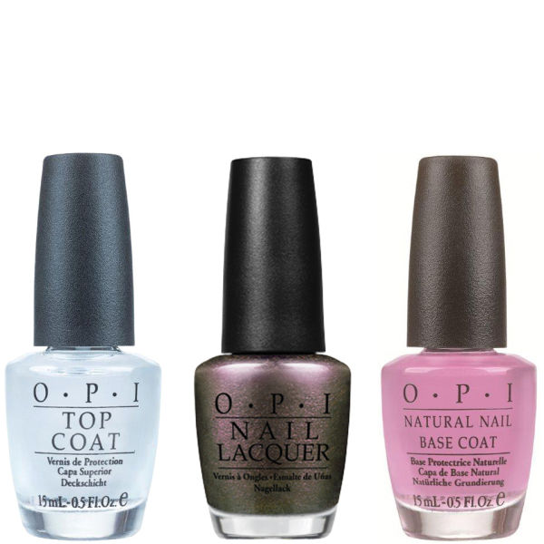 OPI Gift Set - Top & Base Coat + The World Is Not Enough - Value Set