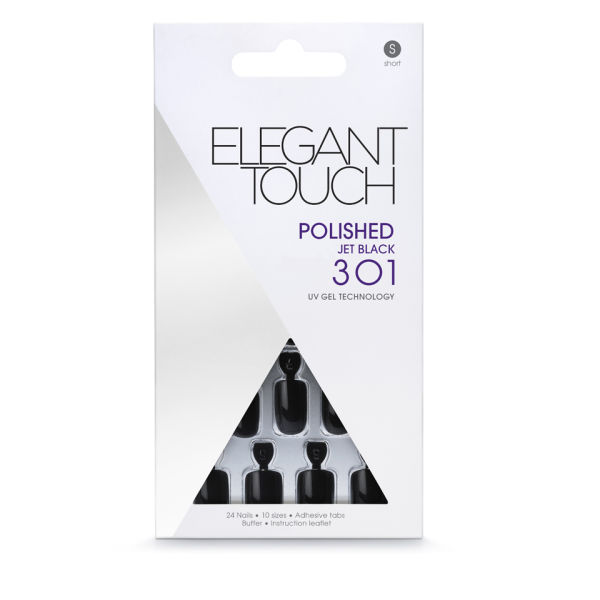 Uñas postizas Elegant Touch Polished - Jet Black 301