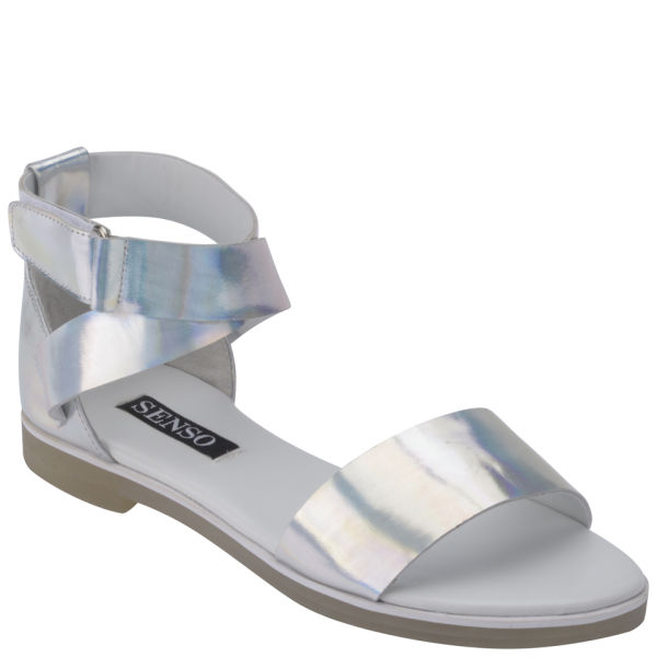 93b89808b Senso Women s Faye II Holographic Leather Sandals - Silver  Image 5