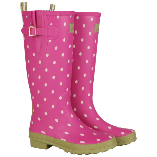 Joules Women's Printed Spot Wellies - Pink
