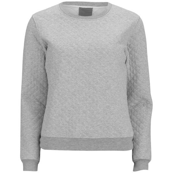 Lot 78 Women's Quilted Sweatshirt - Grey Melange