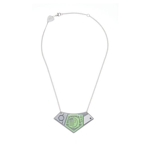 Tatty Devine Spaceship Necklace - Silver