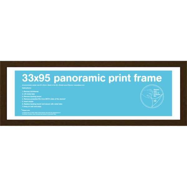 Walnut Frame Panoramic - 33 x 95cm