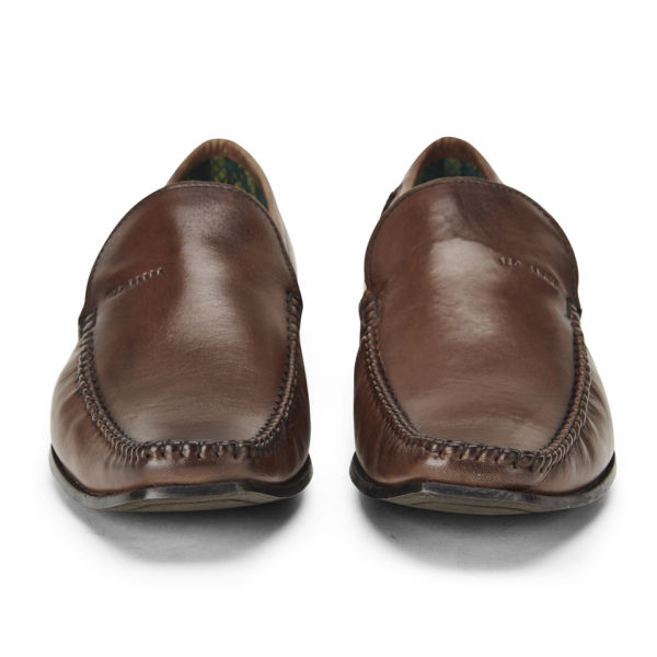 ted baker s bly 6 leather slip on shoes brown free