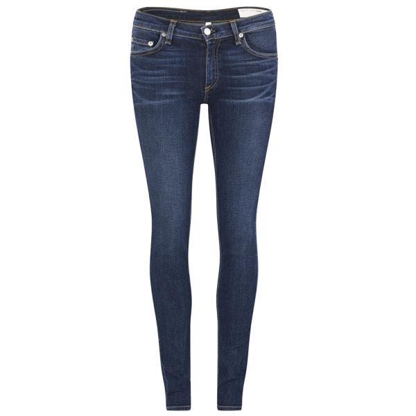 rag & bone Women's The Skinny Mid Rise Wonderland Jeans - Indigo