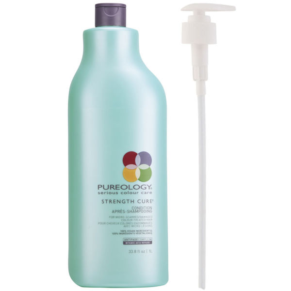 Pureology Strength Cure Conditioner (1000 ml) med pumpe