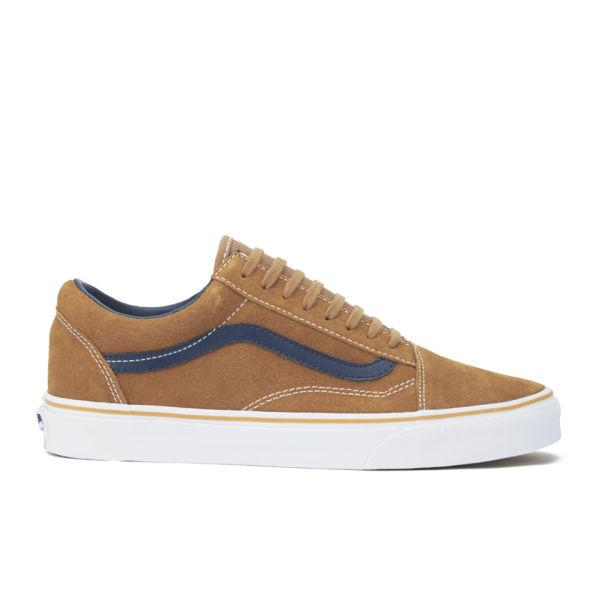 3a01b7cdaee118 Vans Men s Old Skool Suede Leather Trainers - Brown Sugar  Image 1