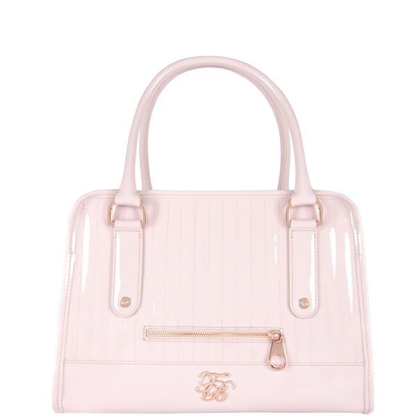 Ted Baker Allan Pvc Quilted Midi Bowler Bag Pink