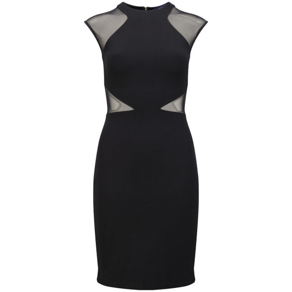 French Connection Women's Viven Panelled Jersey Dress - Black