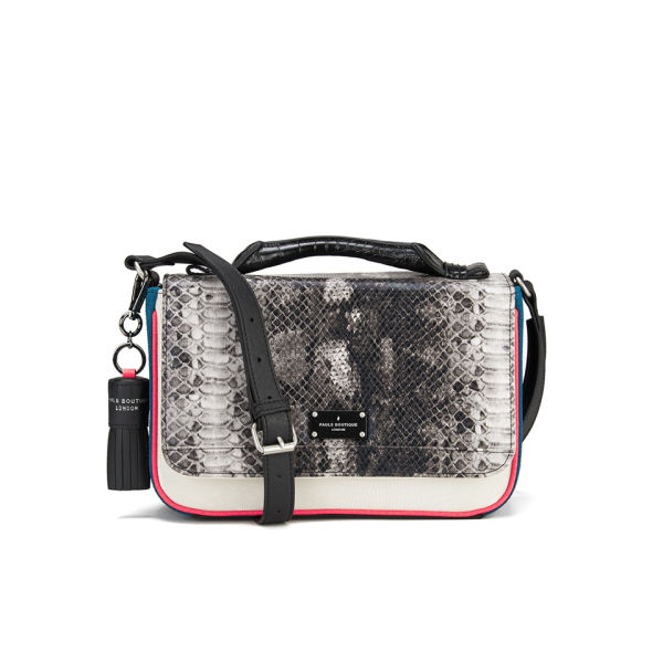 Paul s Boutique Nicole Snake Colour Block Cross Body Bag - White  Image 1 86ce0ec1be302