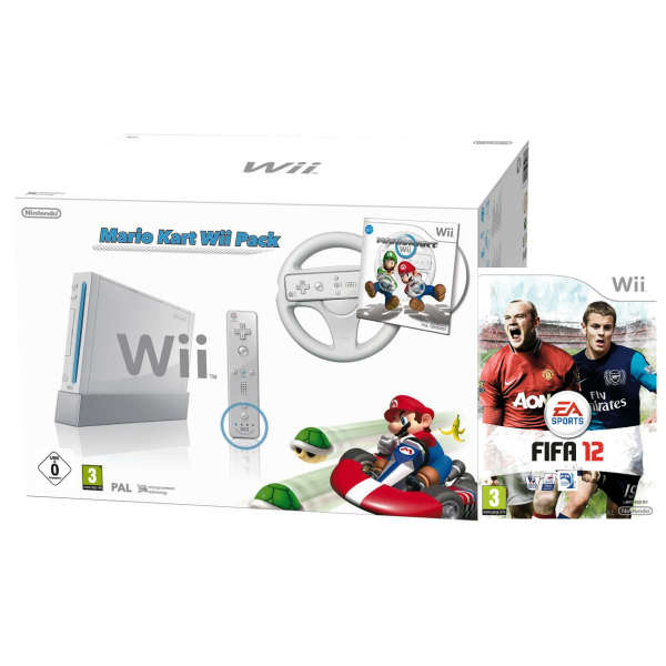 White nintendo wii console bundle mario kart pack plus - Wii console mario kart bundle ...