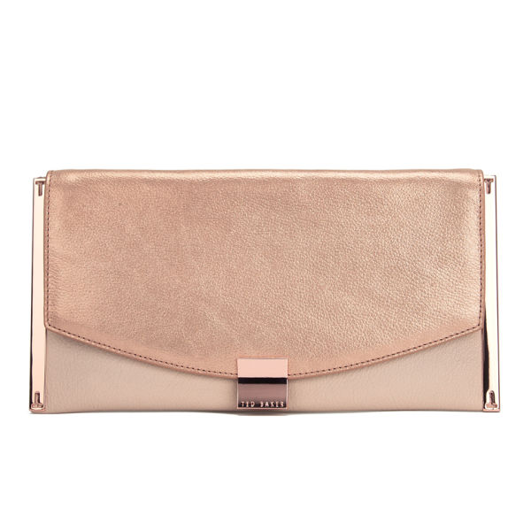 Ted Baker Women S Allices Feet Clutch Bag Rose Gold Image 1