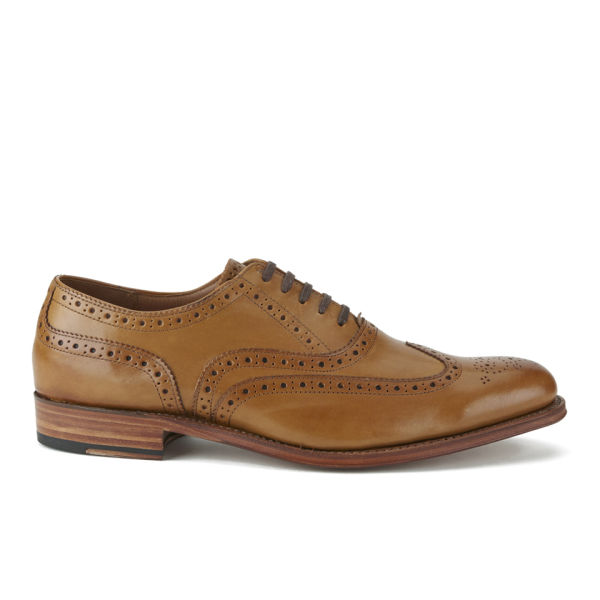 Grenson Men's Dylan Leather Wingtip Brogues - Tan