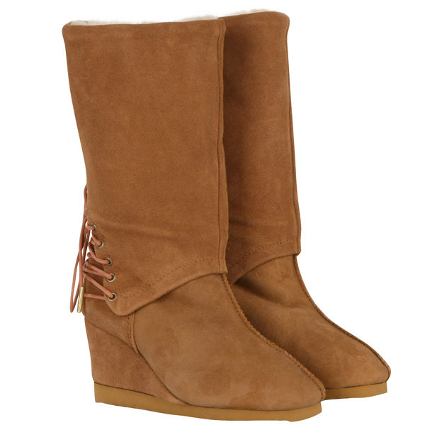 from australia s roxanne wedge boots caramel