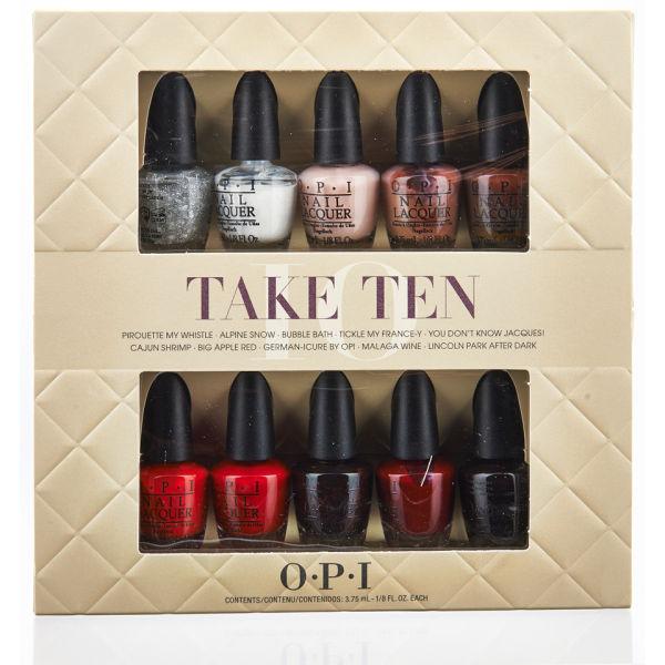 Esmalte de uñas OPI Take Ten Mini Kit (10 productos) | Envío ...