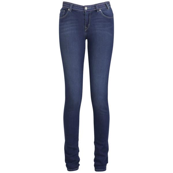 Paul by Paul Smith Women's Skinny Mid Rise Jeans - Inky Blue