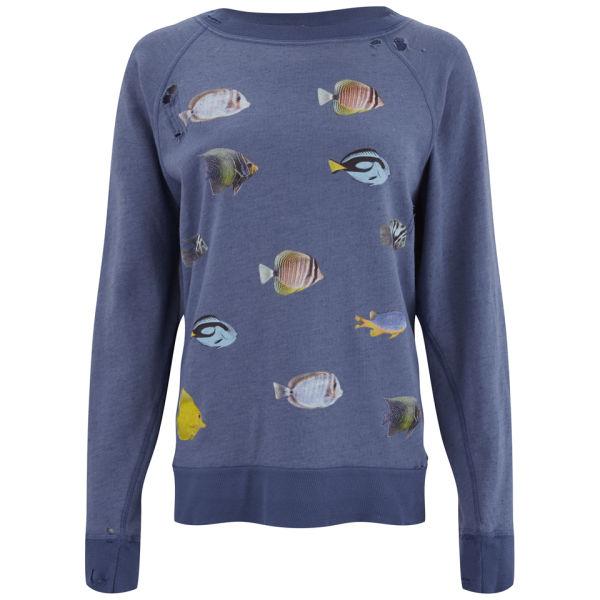 Wildfox Women's Fishes Destroyed Sweater - Night Run