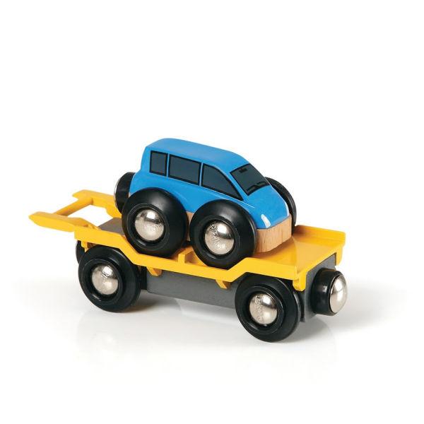 Wagon transport de voiture avec rampe -Brio