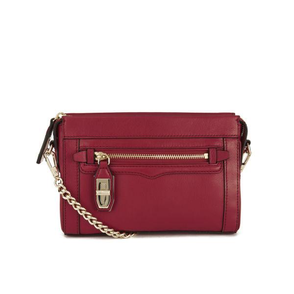 Rebecca Minkoff Mini Crosby Cross Leather Body Bag - Crimson