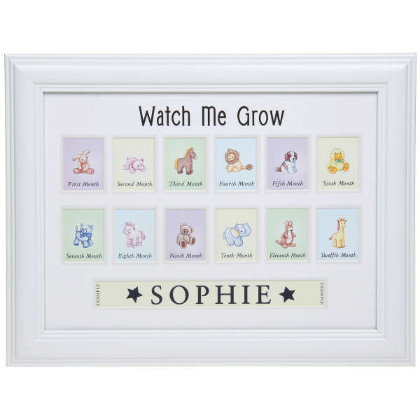 Watch Me Grow Name And Picture Frame Zavvinl