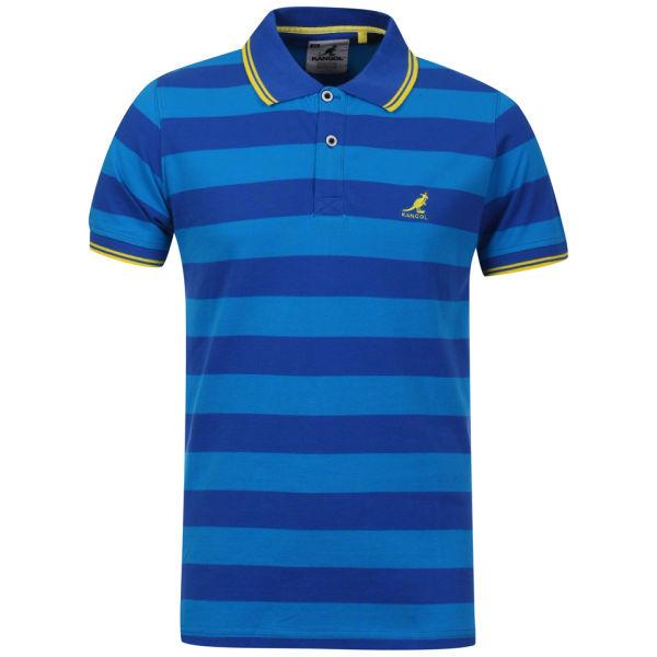 Kangol men 39 s hola polo shirt electric blue turquoise for Aqua blue mens dress shirt