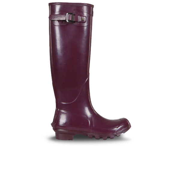 Barbour Women's Country Classic Gloss Wellington Boots - Purple