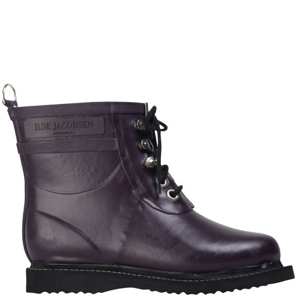 Ilse Jacobsen Women's Short Rubber Boot - Plum