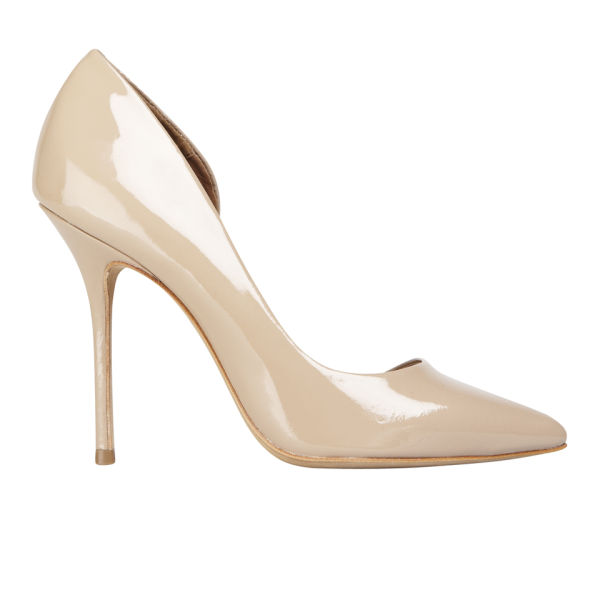 Kurt Geiger Women's Anja Patent Leather Heeled Court Shoes - Nude