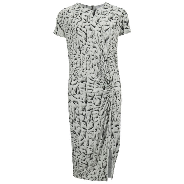 Helmut Lang Women's Draped Print Midi Dress - Vein Multi