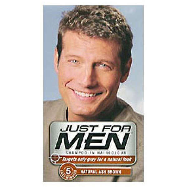 Just for Men Shampoo-in Hair Colour Natural Ash Brown | Buy Online ...