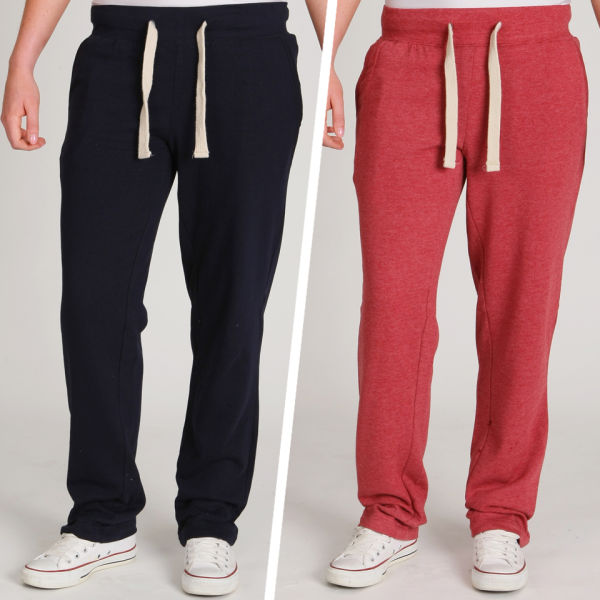 Brave Soul Women's 2-Pack Sweat Pants - Navy/Oxblood Red