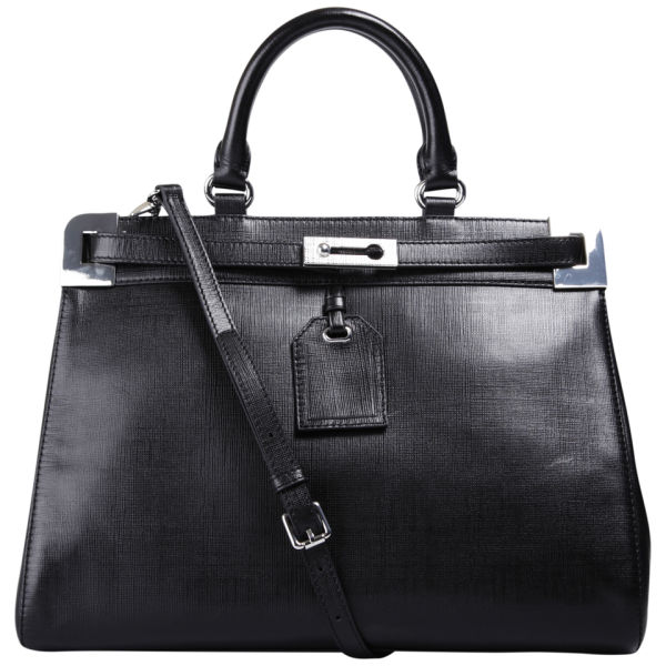 French Connection Air Of Elegance Leather Grab Bag Black Image 1