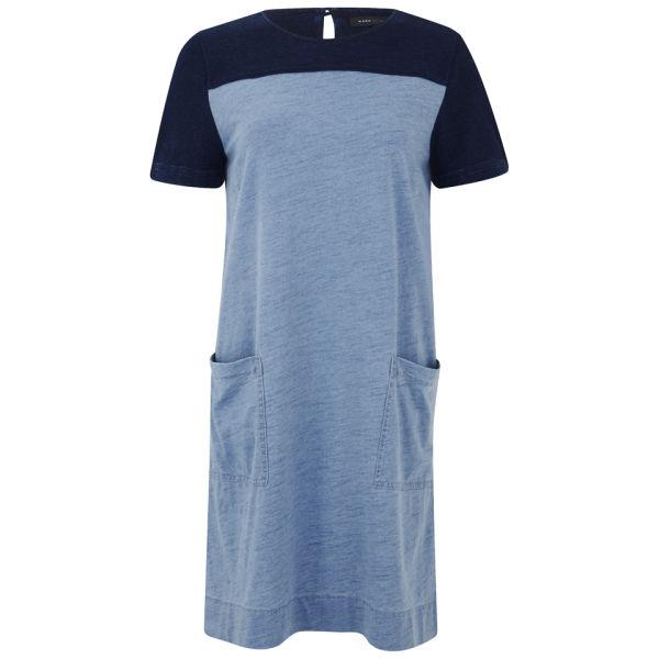 Marc by Marc Jacobs Women's Yili Indigo Colour Block Shift Dress - Light Blue/Navy