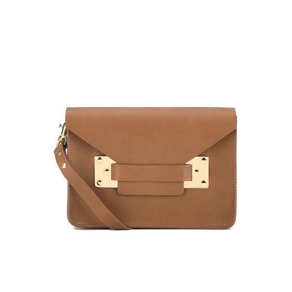 Sophie Hulme Mini Envelope Cross Body Bag - Tan
