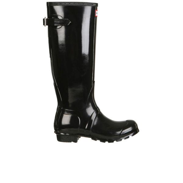 Hunter Women's Original Back Adjustable Gloss Wellington Boots - Black