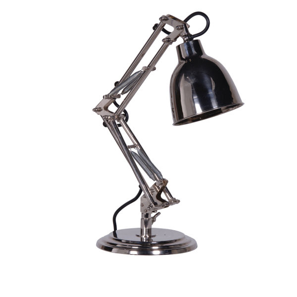 Small Nickel Spring Desk Lamp