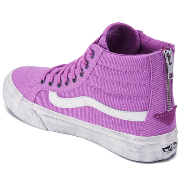 1a71571977 Vans Women s SK8-Hi Slim Zip Overwashed Hi-Top Trainers - Radiant Orchid