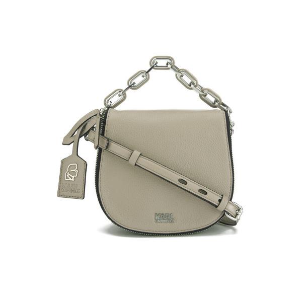 Karl Lagerfeld Kgrainy Cross Body Bag Taupe