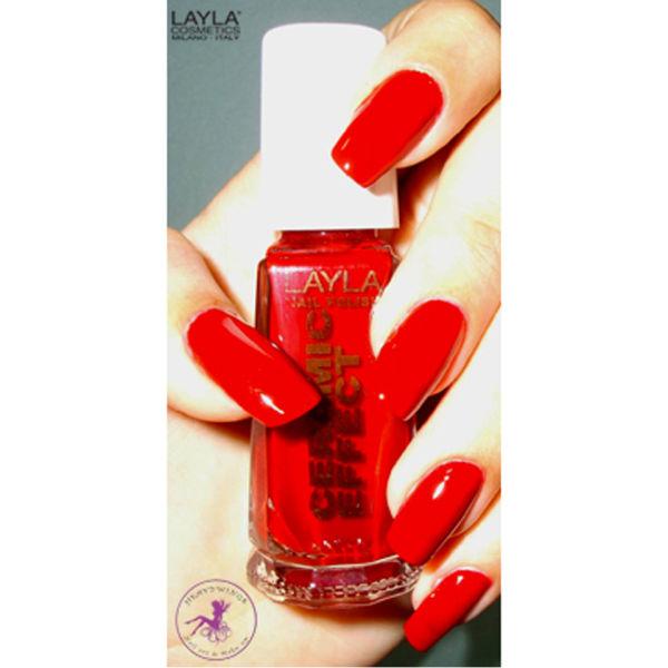 Esmalte de uñas Layla Cosmetics Ceramic Effect N.06 Milan Red (10ml ...